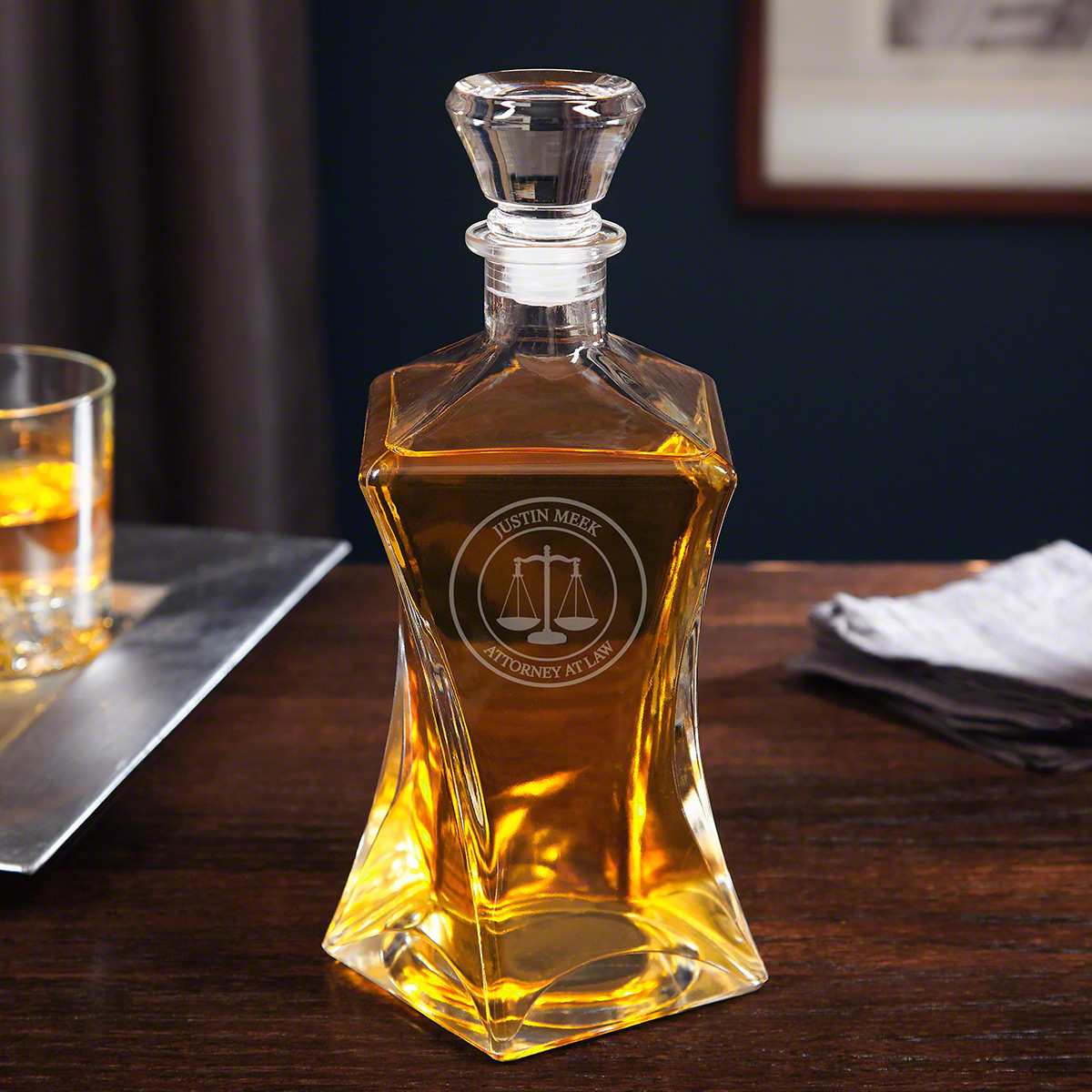 Scales of Justice Coppola Whiskey Decanter for Lawyers