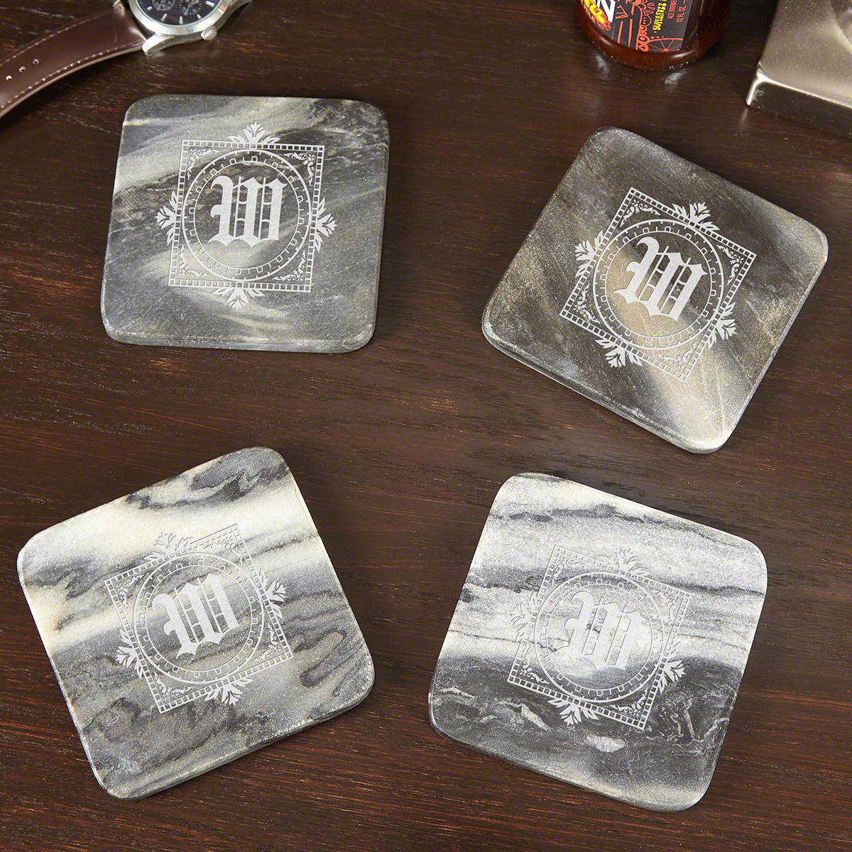 Winchester-Personalized-Marble-Coasters-Set-of-4