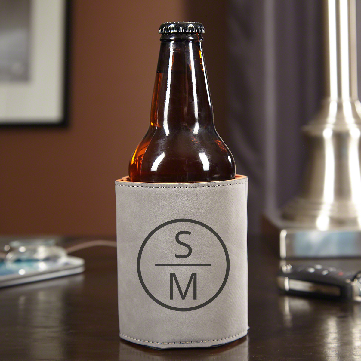Emerson-Personalized-Beer-Holder-Slate-Gray