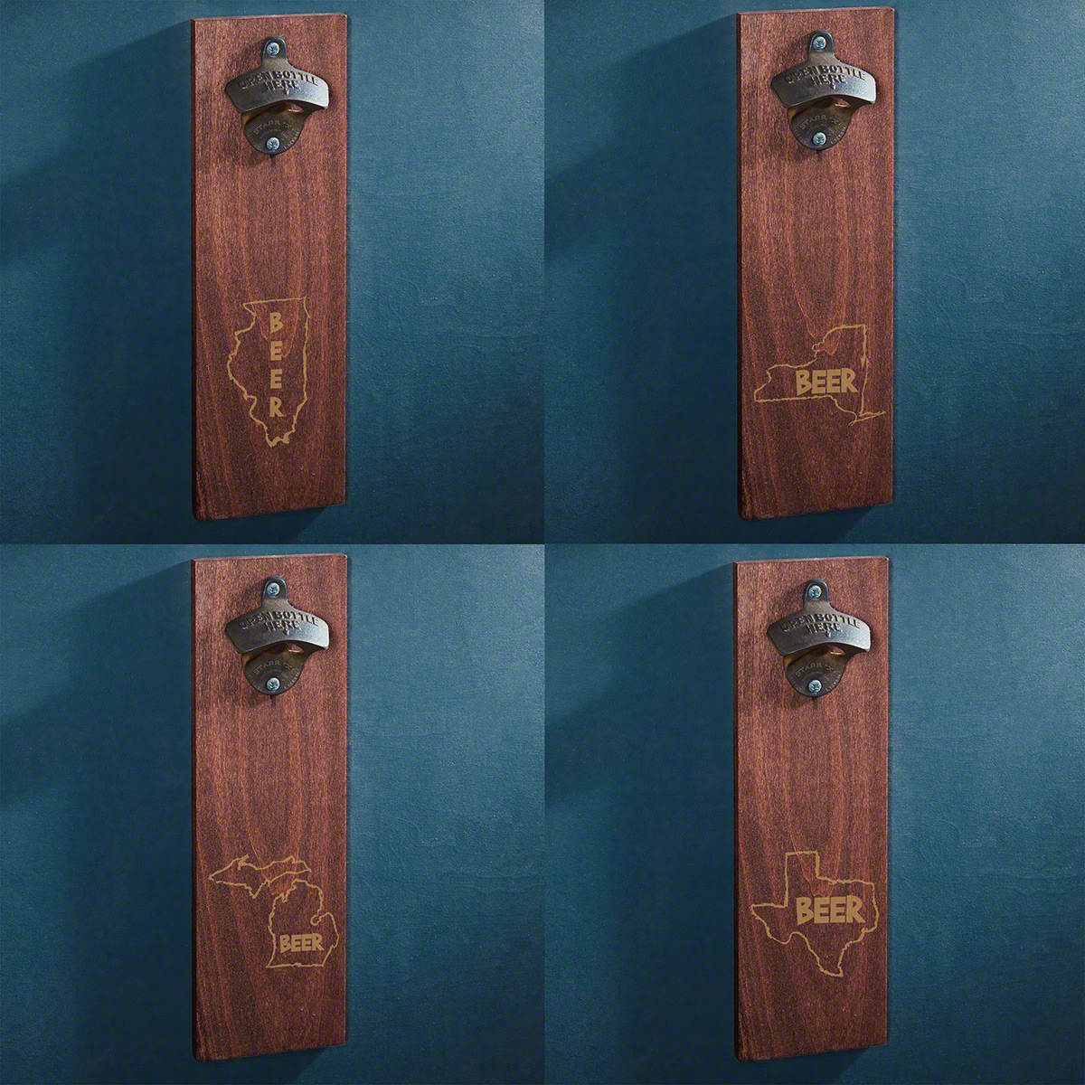Home State Wooden Beer Bottle Opener - 12 States Available