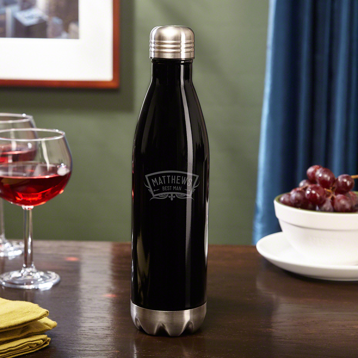 Wedding Party Personalized Wine Canteen Bottle