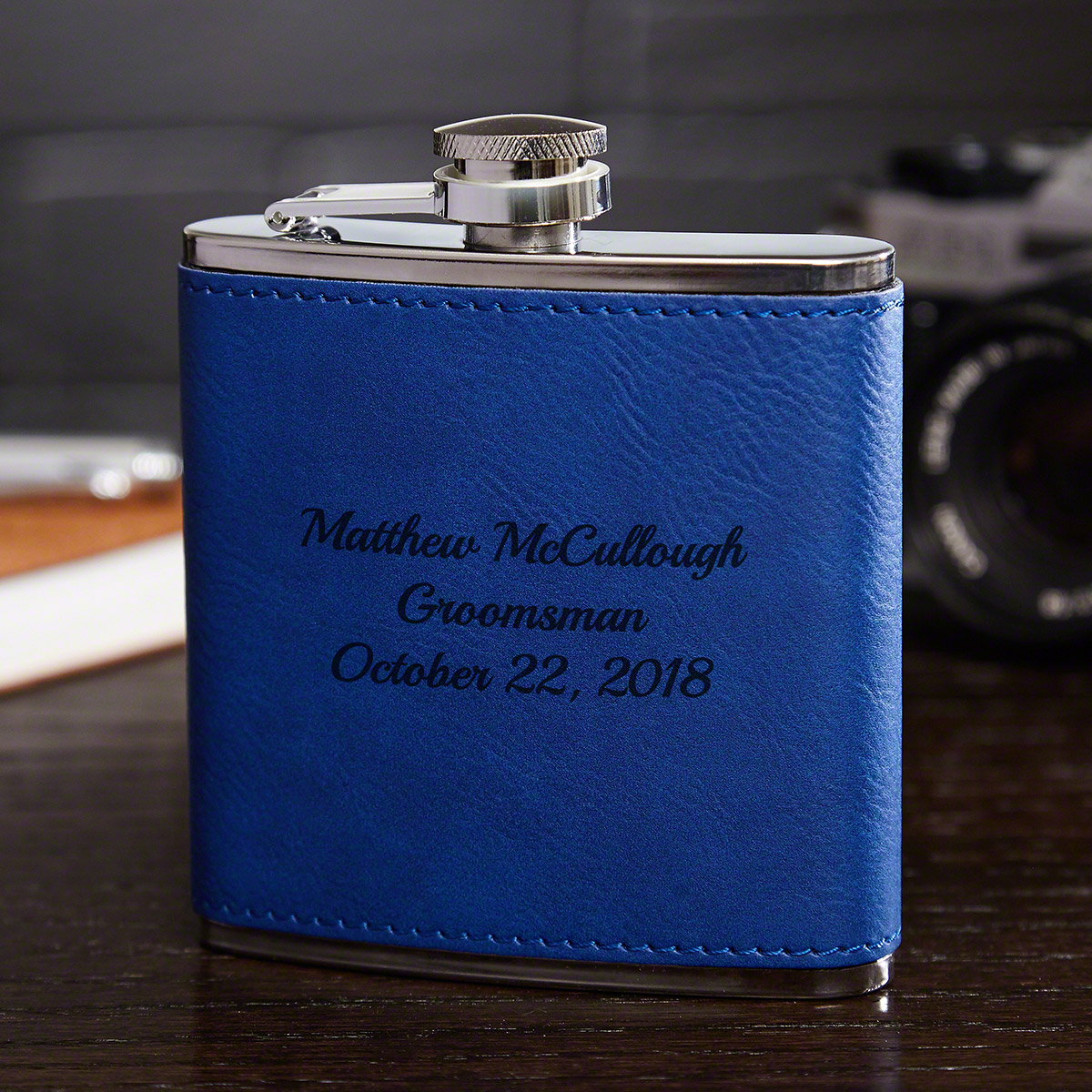 Cobalt-Blue-Leatherette-Personalized-Hip-Flask