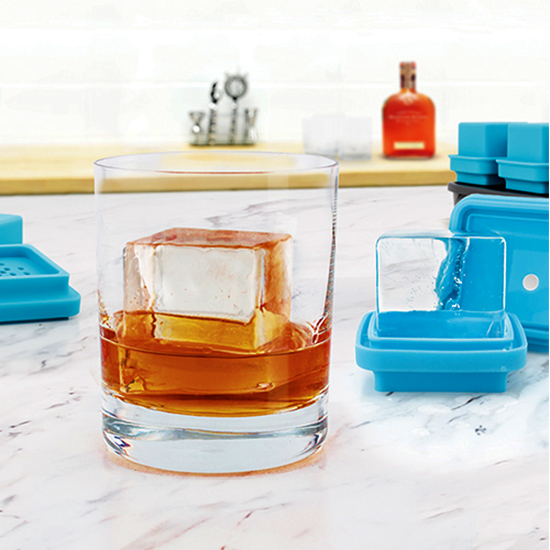 Crystal-Clear Large Ice Cube Molds, Set of 4