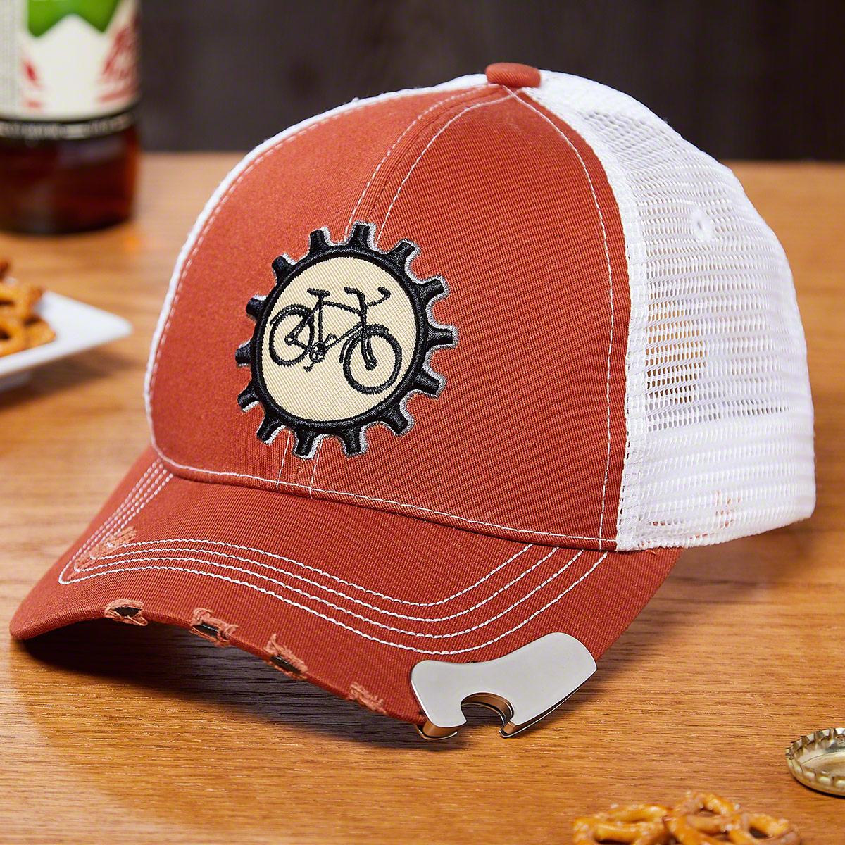 Bike Sprocket Baseball Cap Bottle Opener