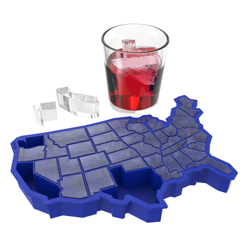 Red White and Chilled USA Ice Cube Tray