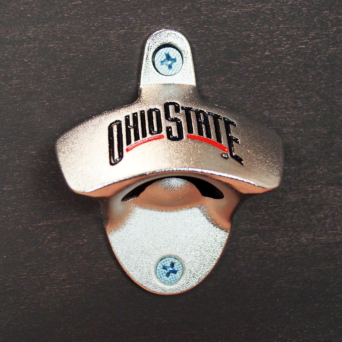 Ohio State Buckeyes Wall Mounted Bottle Opener