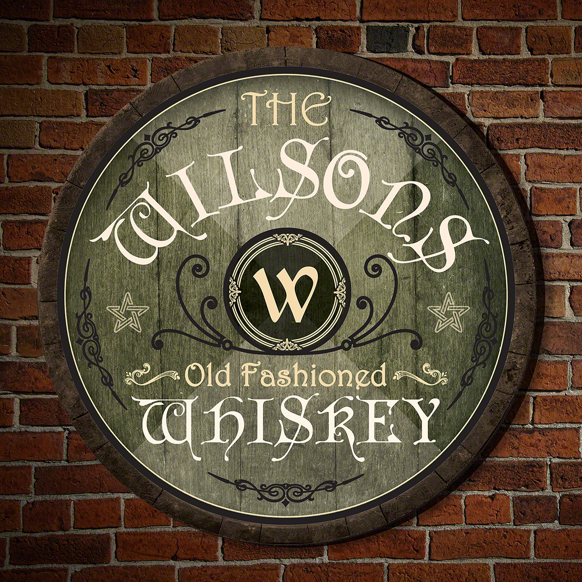 McLoughlin Personalized Irish Whiskey Sign
