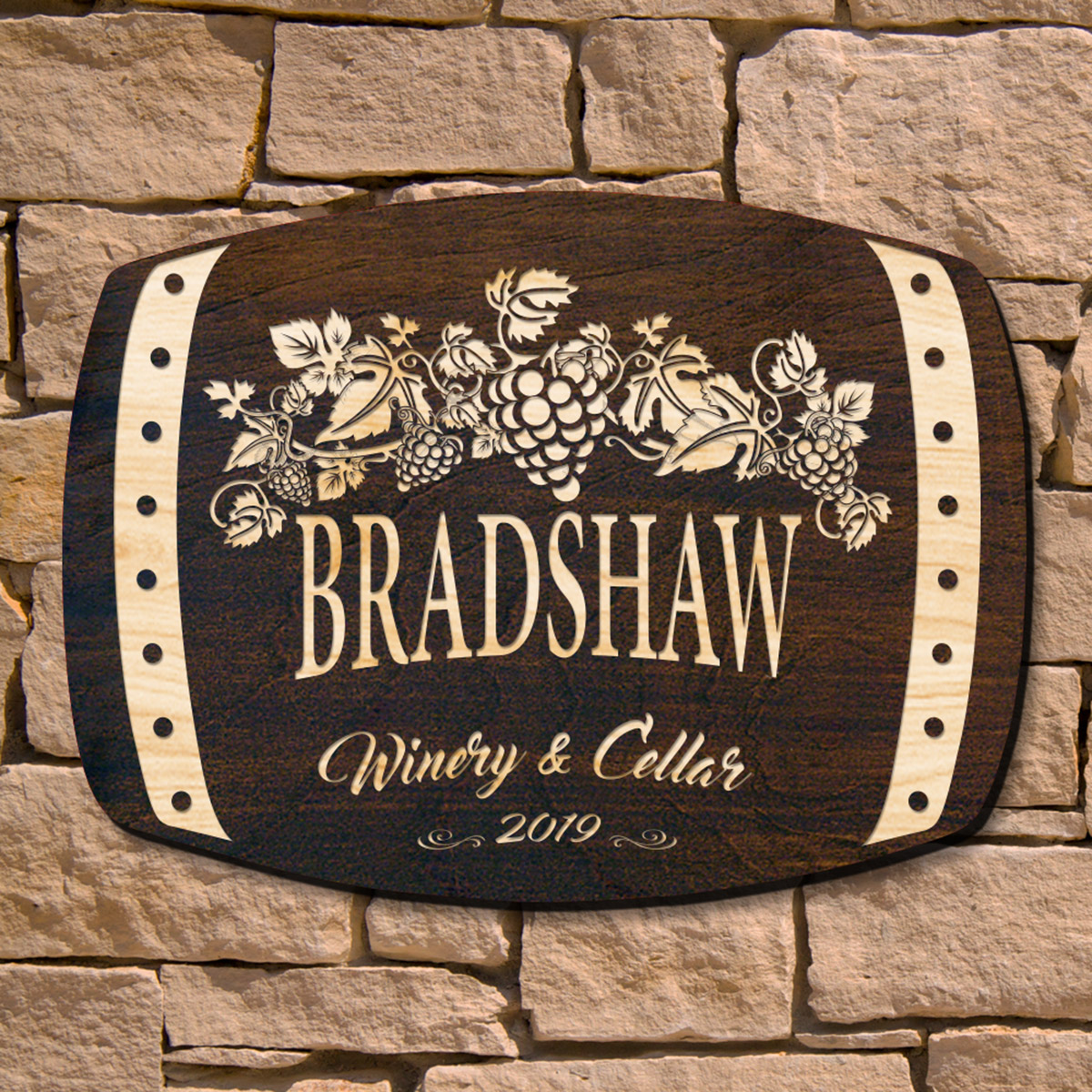 Handsome Harvest Personalized Wine Wall Decor (Signature Series)