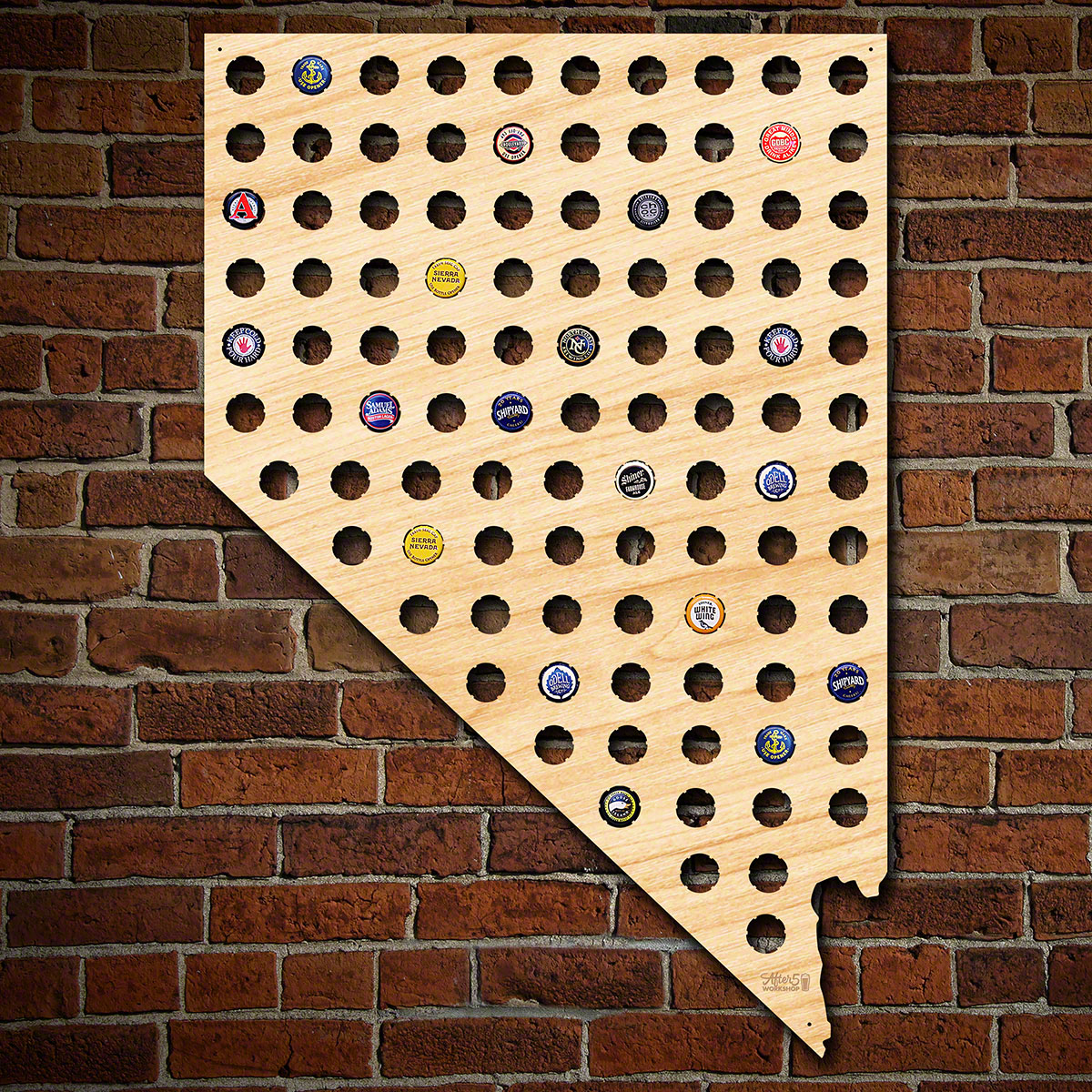 Giant-XL-Nevada-Beer-Cap-Map