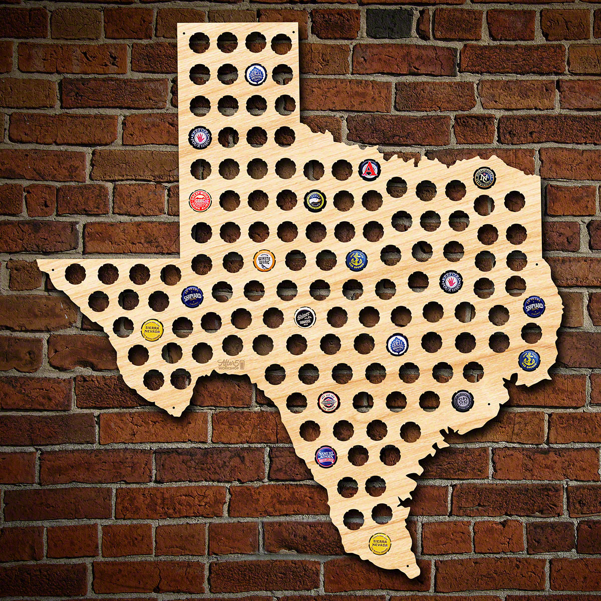 Giant XL Texas Beer Cap Map