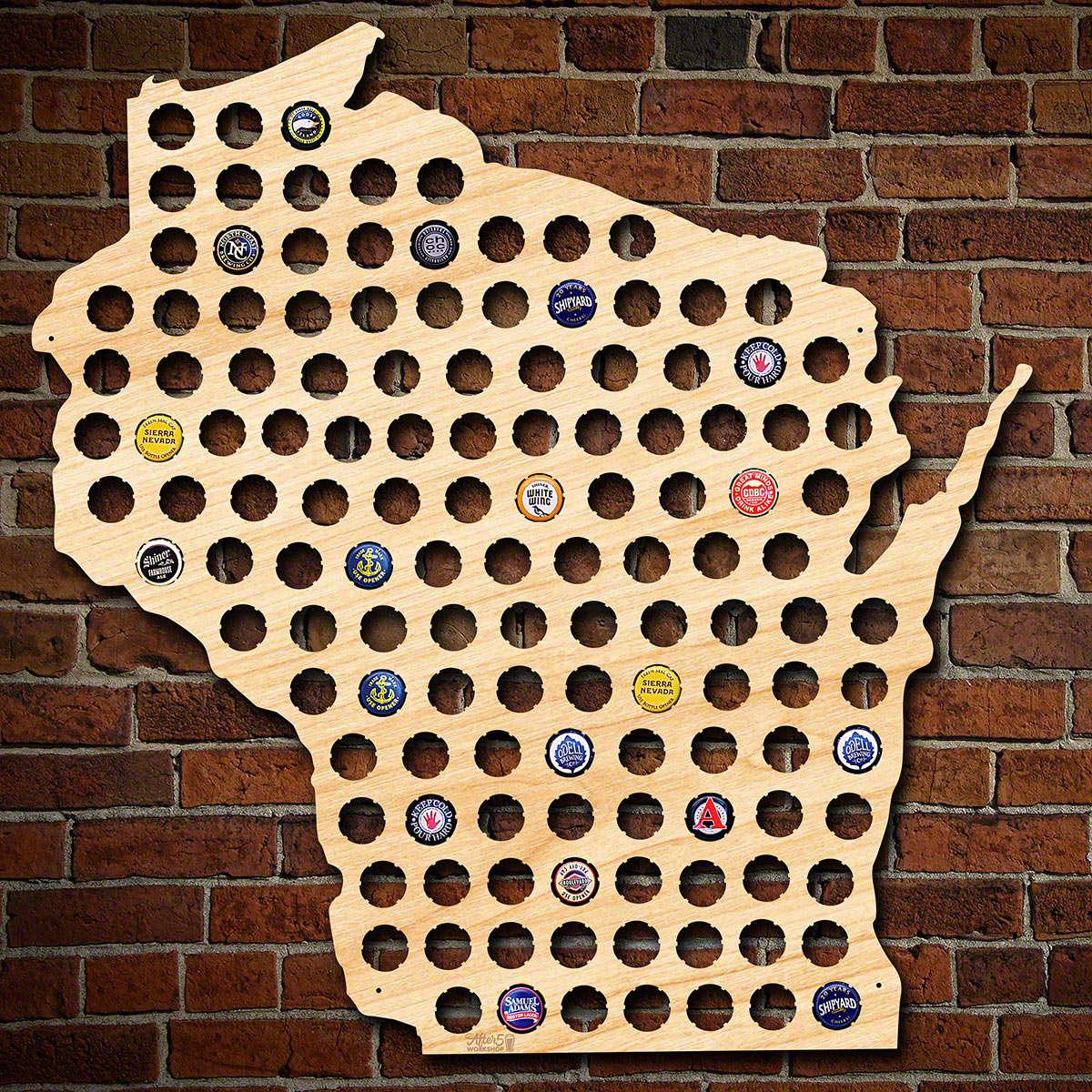 Giant-XL-Wisconsin-Beer-Cap-Map