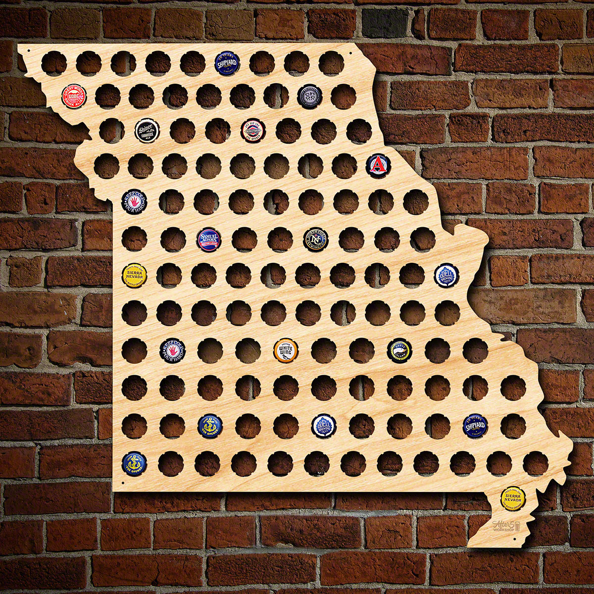 Giant-XL-Missouri-Beer-Cap-Map