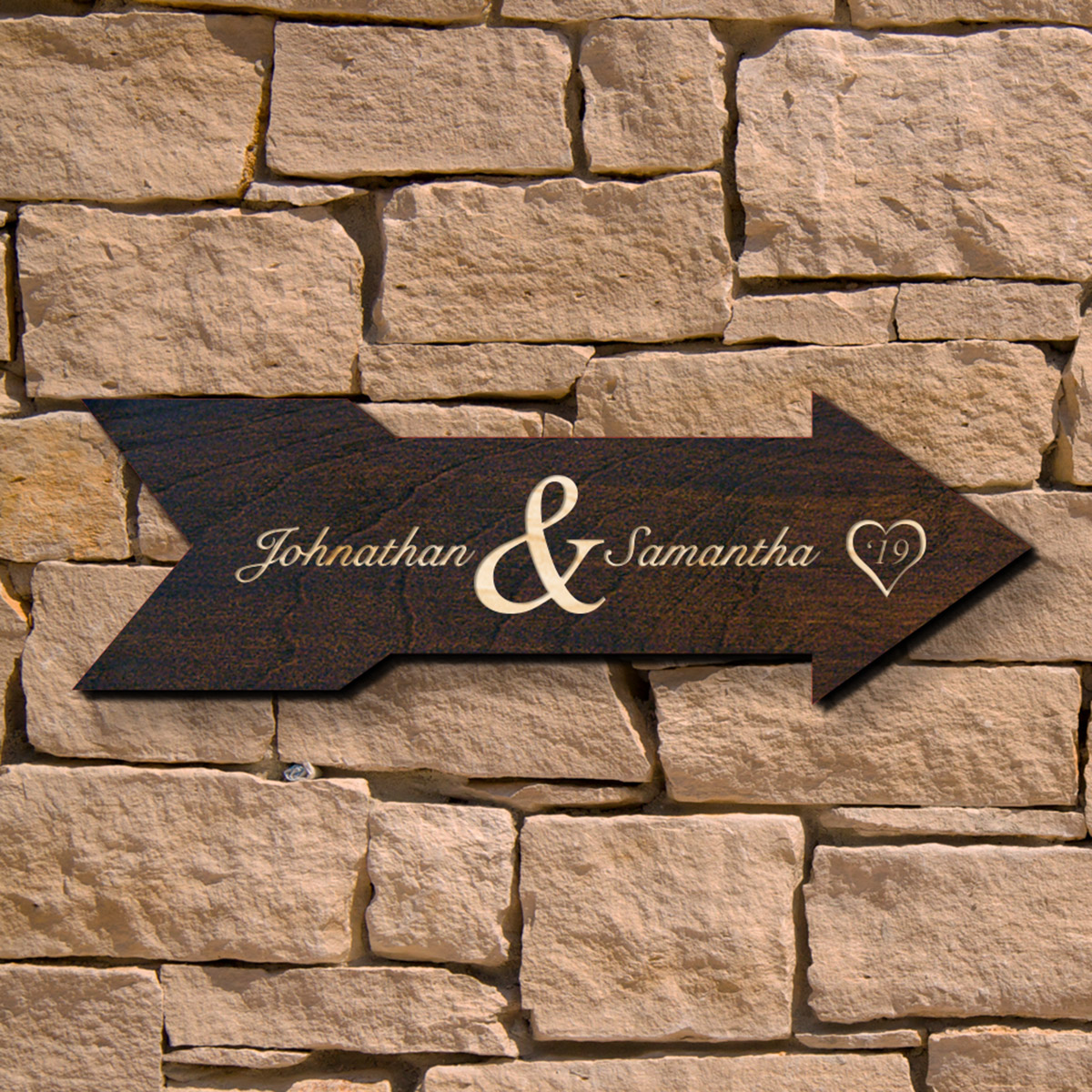 Alvara Personalized Wedding Sign (Signature Series)