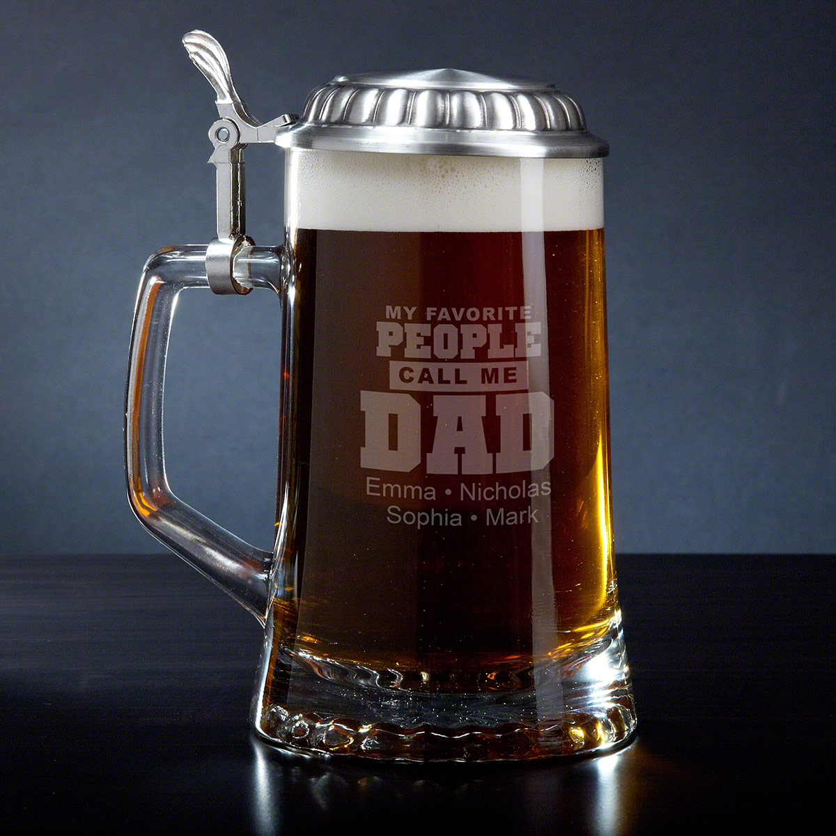 No matter your age, job, or education, most guys' would still say their favorite name is Dad. Let your father indulge in this love everytime he drinks a beer with our Call Me Dad personalized beer mug. Faithfully crafted from Italian glass, with a traditi #mug