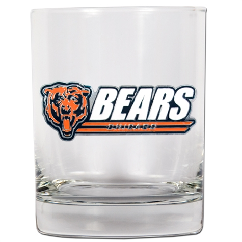 Chicago Bears Whiskey Glass (Engravable)