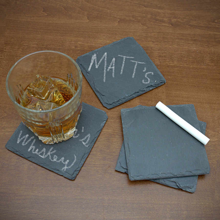 Chalkboard Slate Coasters, Set of 4