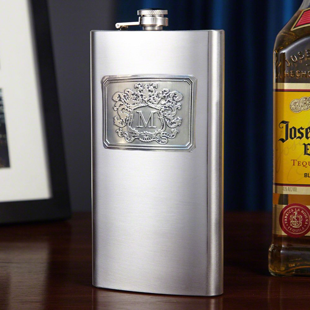 Royal Crested Stainless Steel Flask