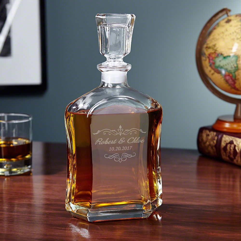 Edgewater Glass Argos Personalized Decanter