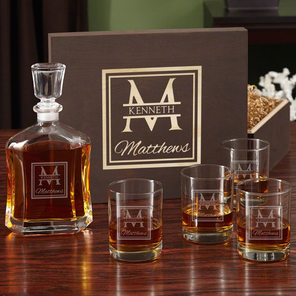 Oakhill Decanter Set with Wooden Gift Box