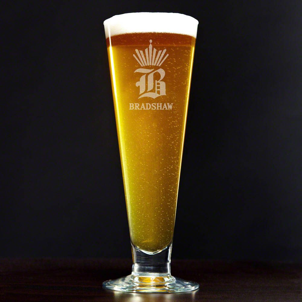 King of Pilsners Personalized Beer Glass