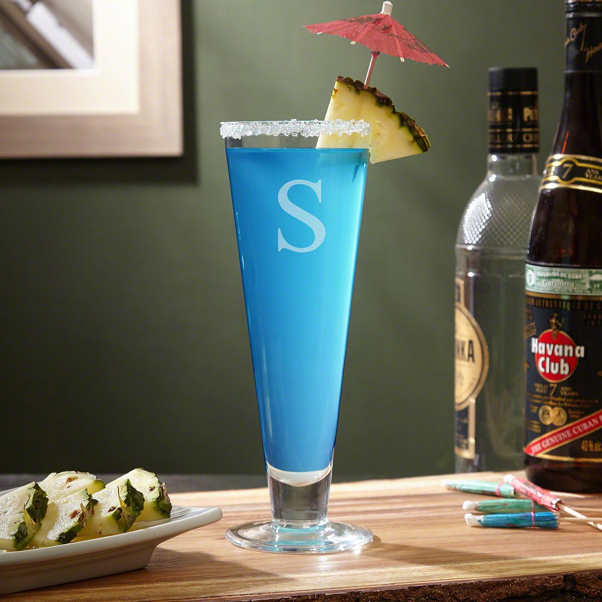 St. Lucia Personalized Tall Cocktail Glass