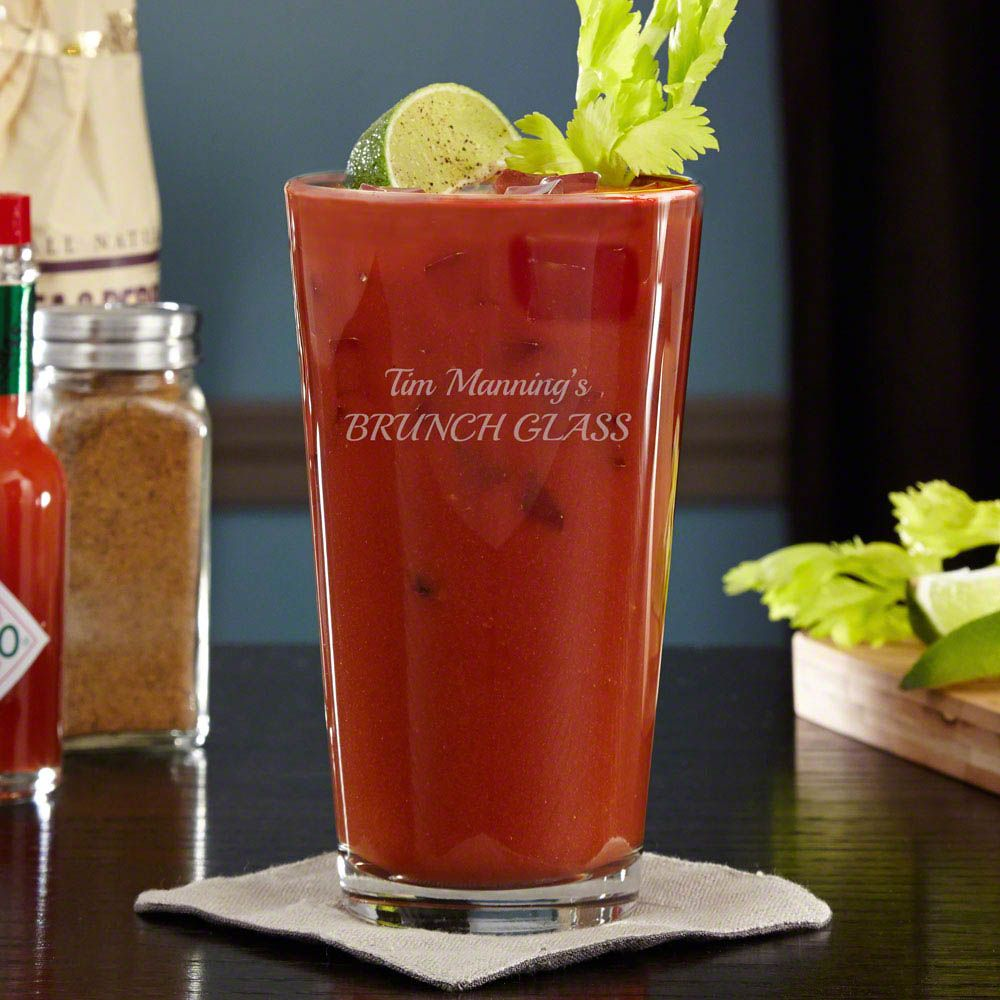 Personalized Bloody Mary Cocktail Glass