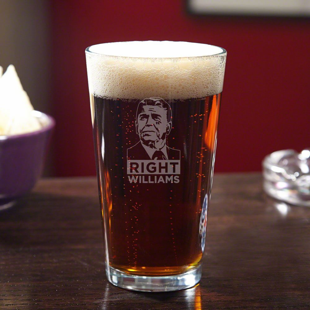Reagan Right Personalized Beer Pint Glass