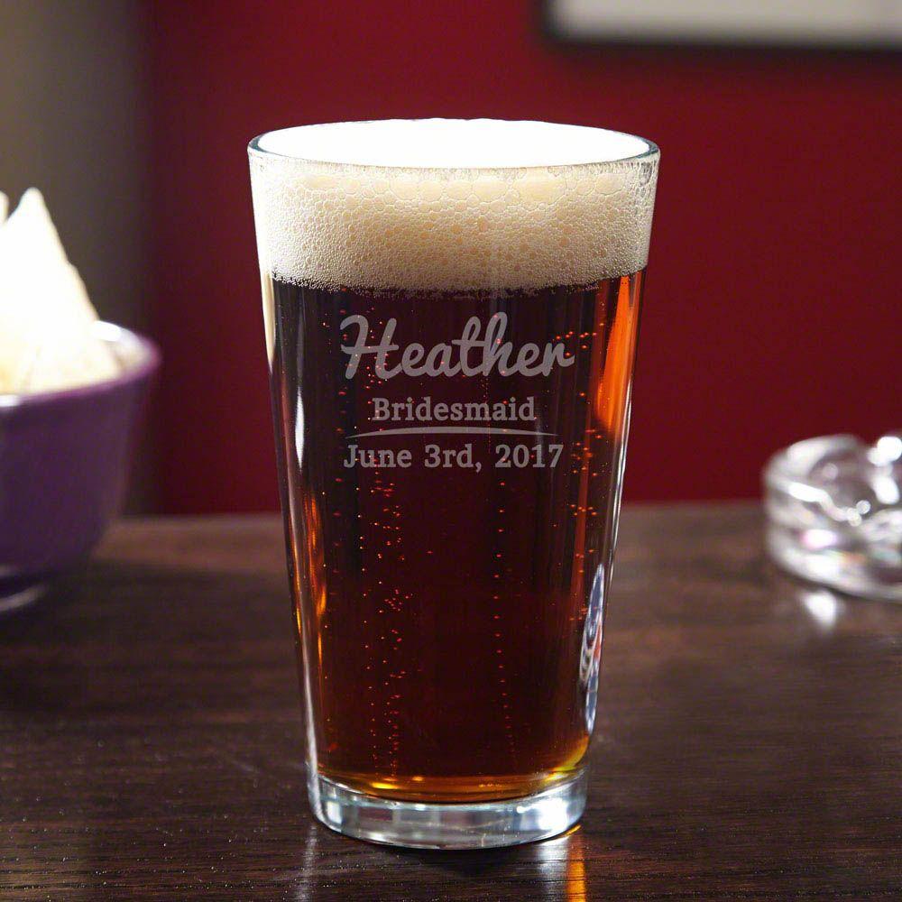 The Big Day Custom Beer Glass