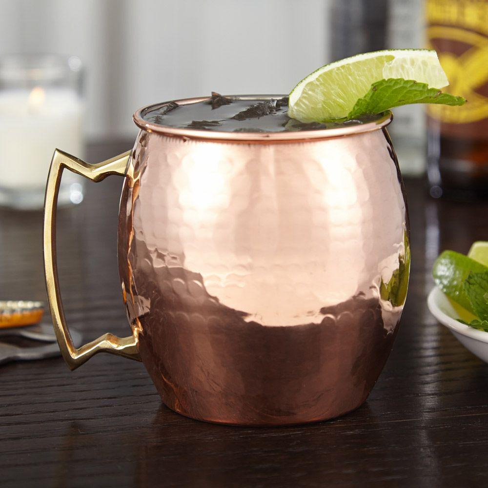 Hammered Copper Moscow Mule Mug, 16 oz