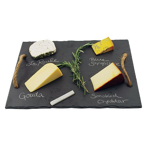 Brie Slate Cheese Board with Rope Handles