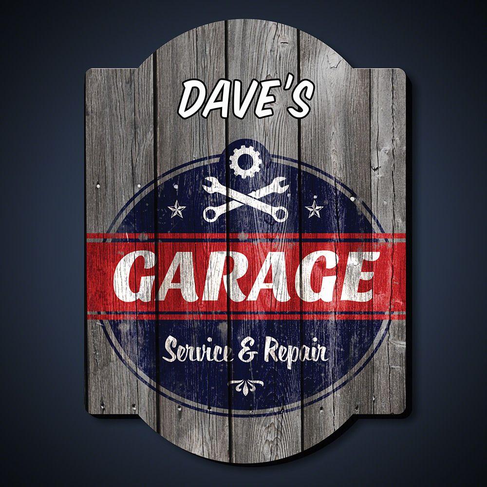 Vintage Personalized Garage Sign