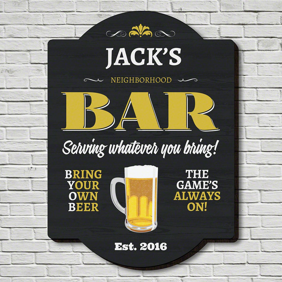BYOB Personalized Pub Sign