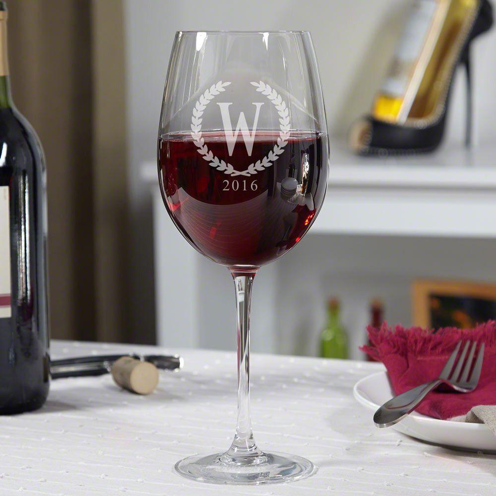 Statesman Personalized Wine Glass