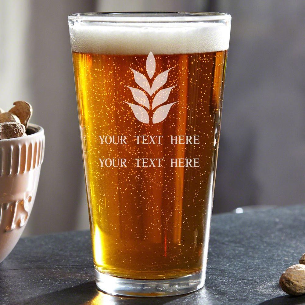 Naturally Brewed Personalized Pint Glass