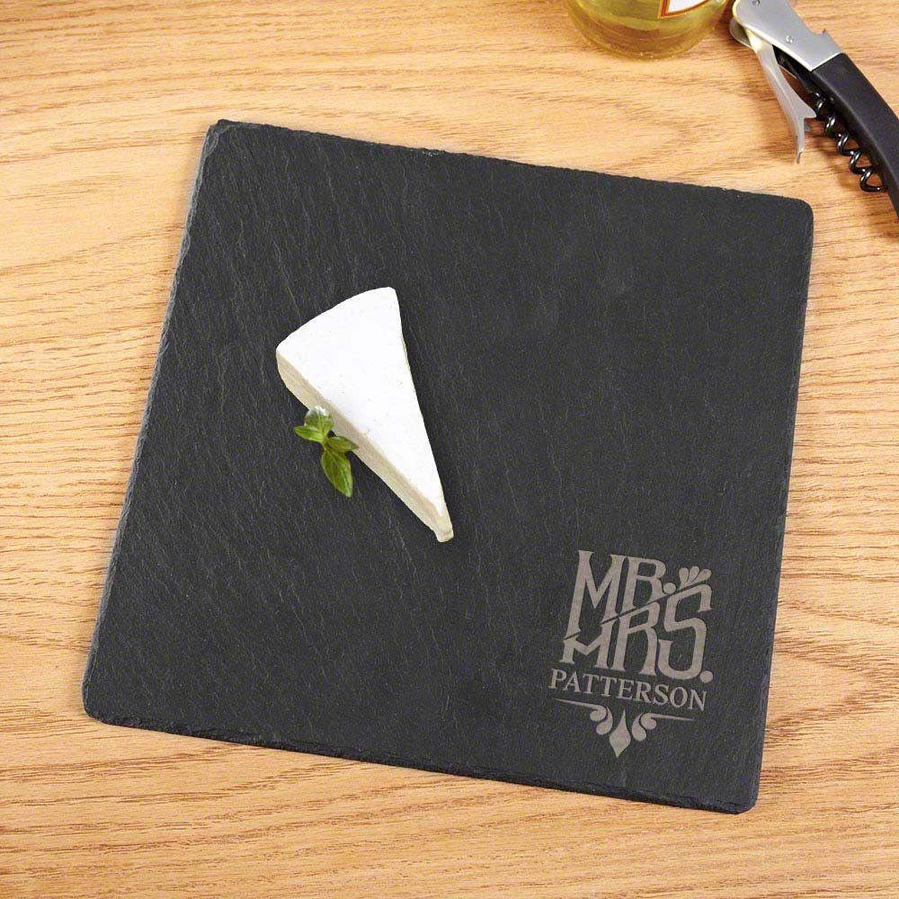Honorific Engraved Slate Cheese Board