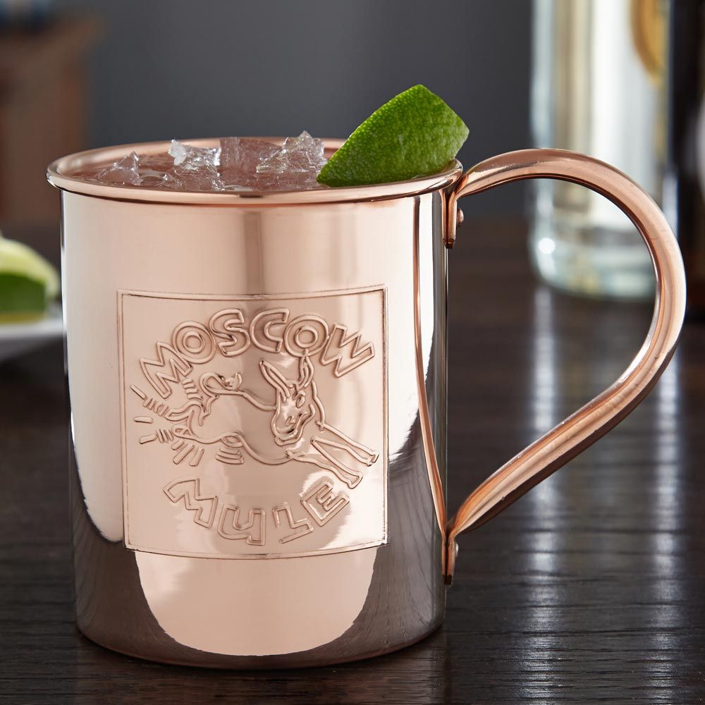 Donkey Kick Embossed Moscow Mule Mug  Large 18oz