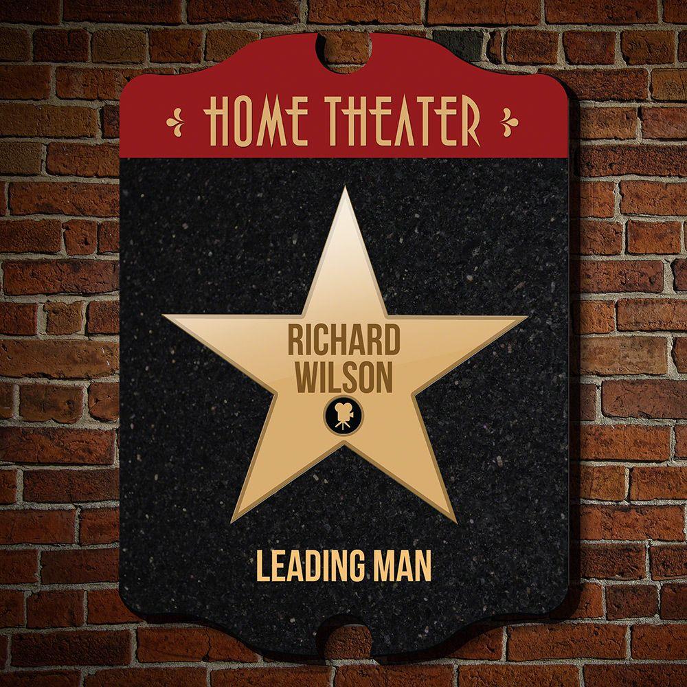 Family Stars Custom Home Theater Decor