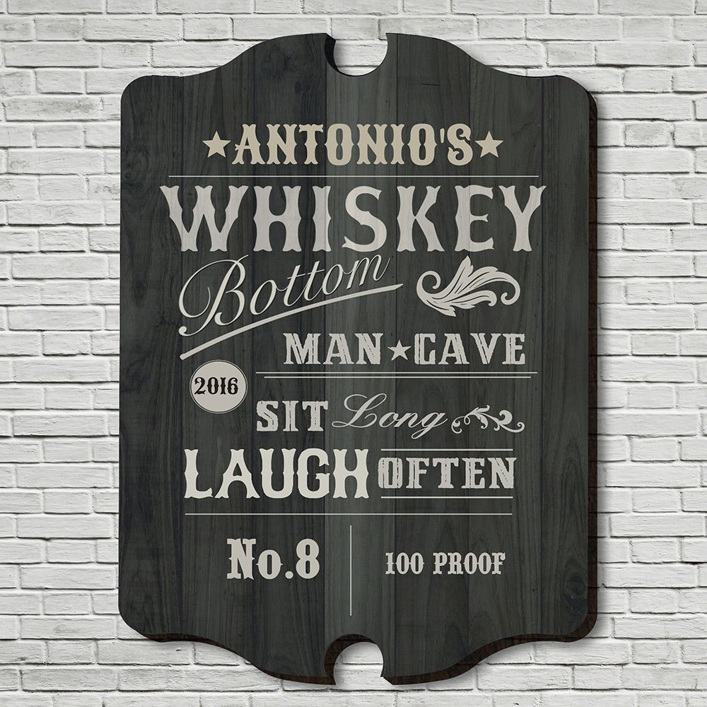 Whiskey Bottom Personalized Bar Sign