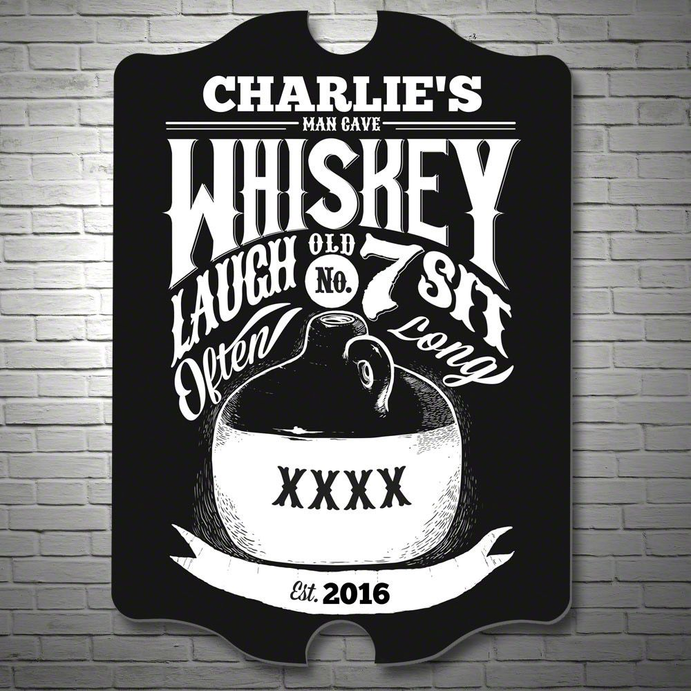 No. 7 Whiskey Personalized Bar Sign