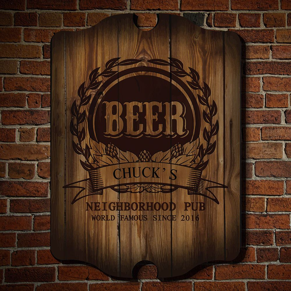 Mark of Excellence Personalized Bar Sign