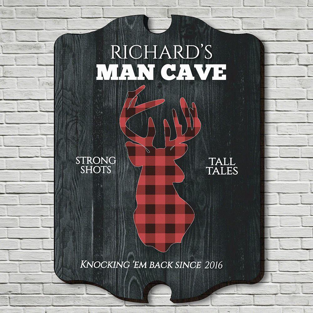 Plaid Stag Custom Man Cave Bar Sign