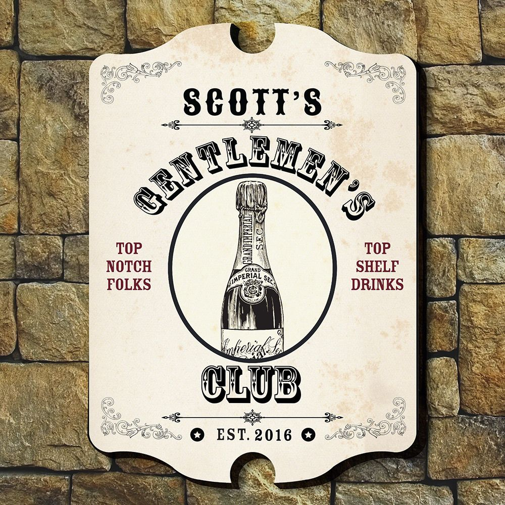 Top Notch Gentlemen Personalized Wall Sign