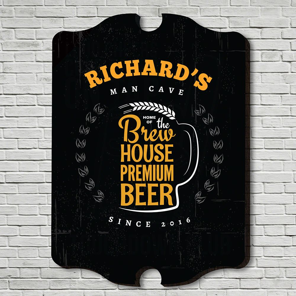 Brew House Personalized Wall Sign