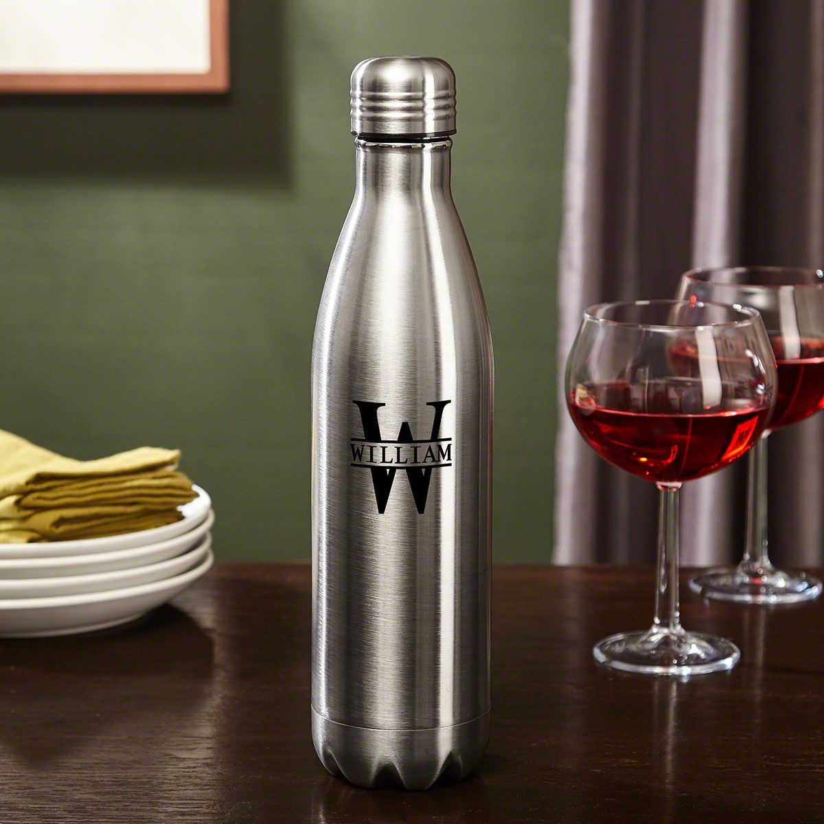 Oakmont Stainless Steel Custom Wine Growler