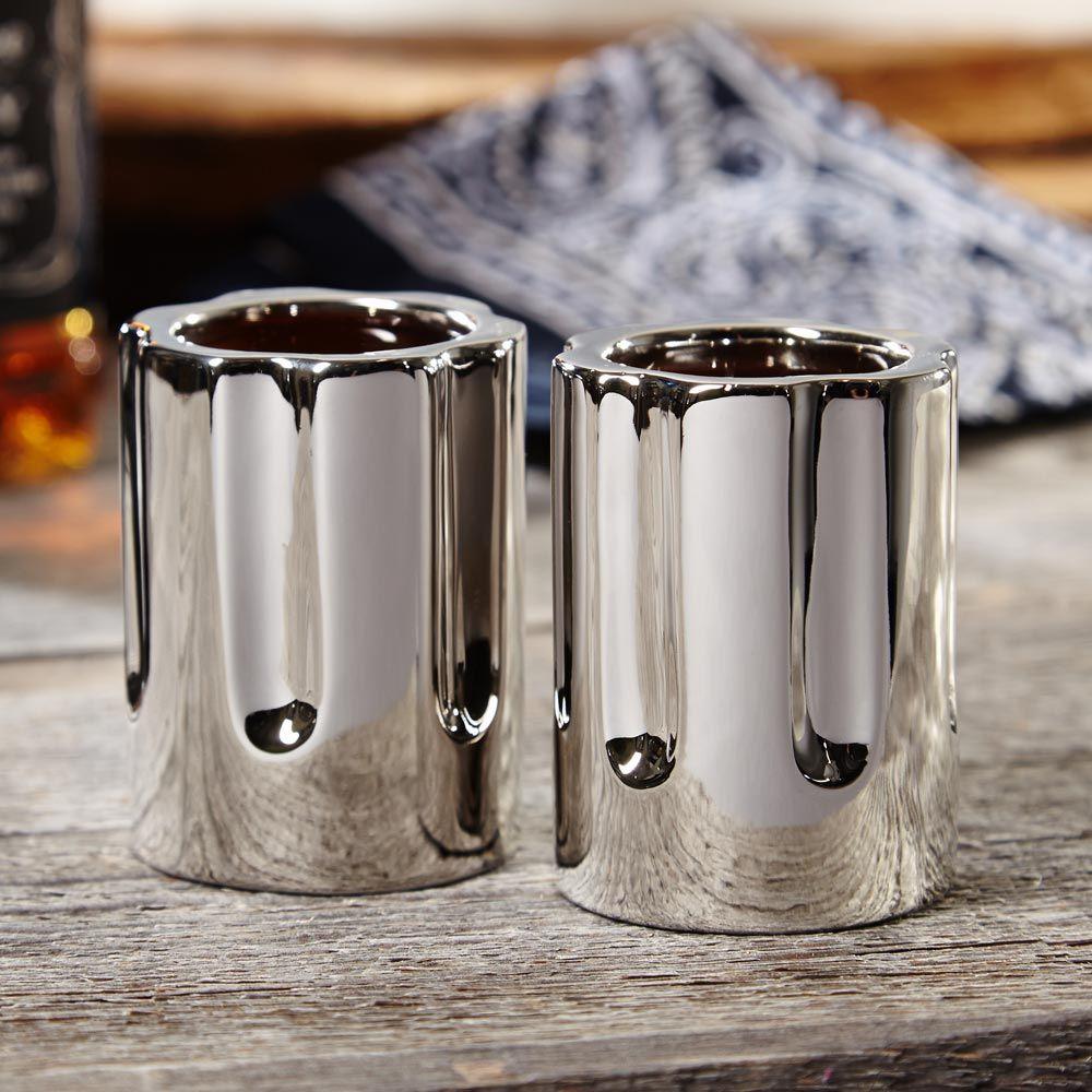 Stick Em Up! Revolver Shot Glass Set