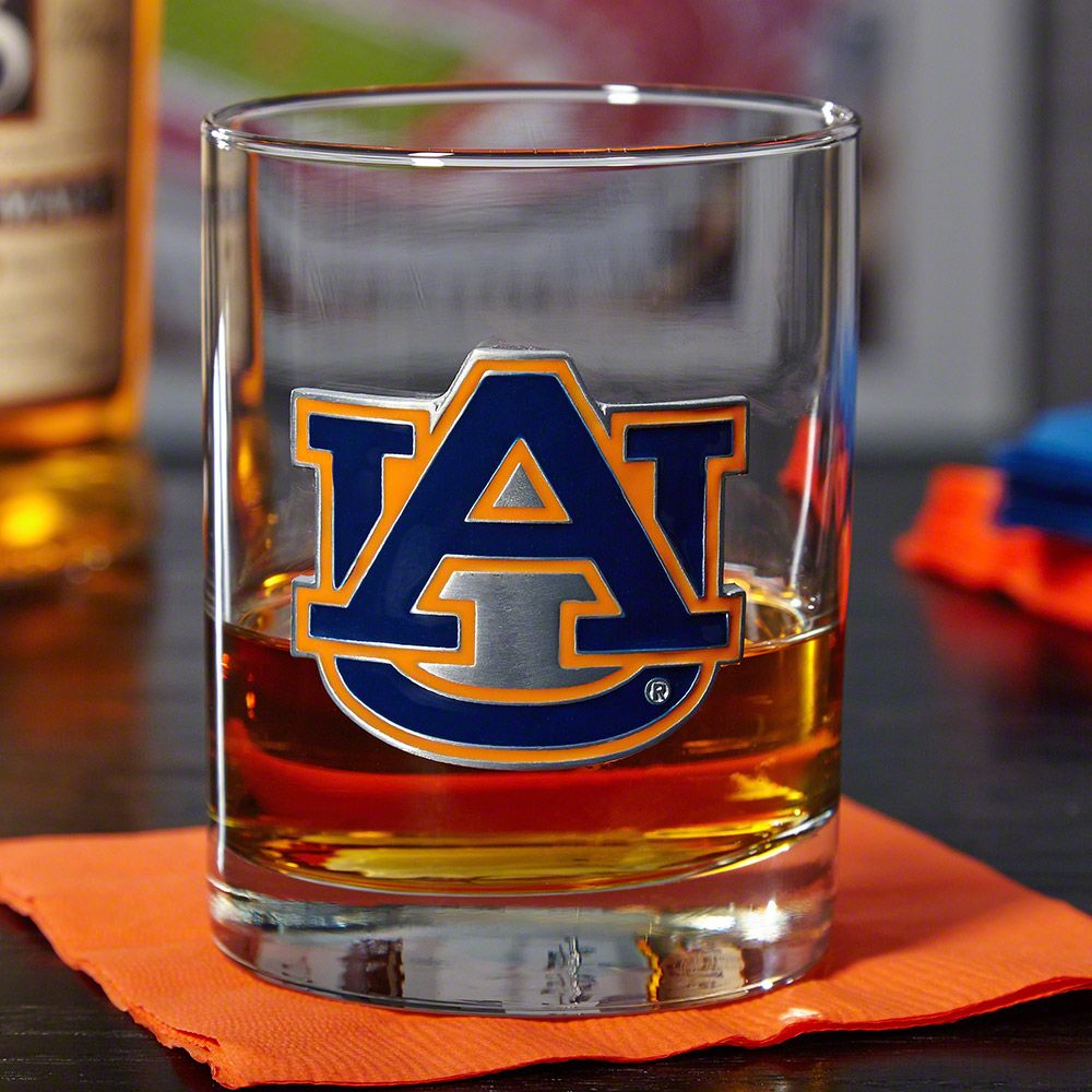 Auburn Tigers Whiskey Glass (Engravable)