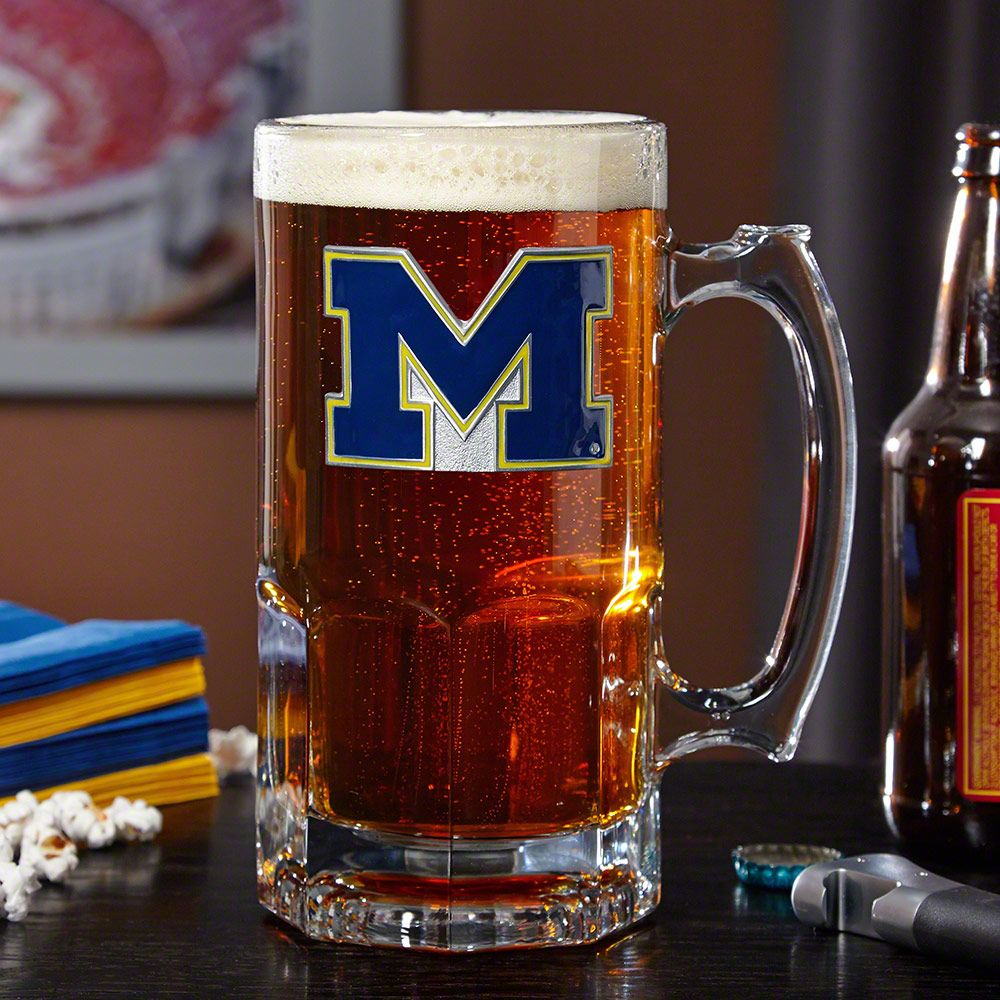 University of Michigan Wolverines Large Beer Mug (Engravable)