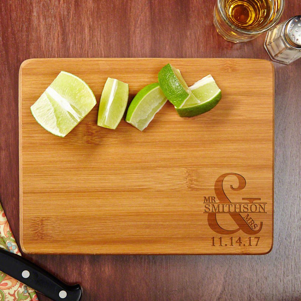 Love & Marriage Personalized Cutting Board,  7 x 9