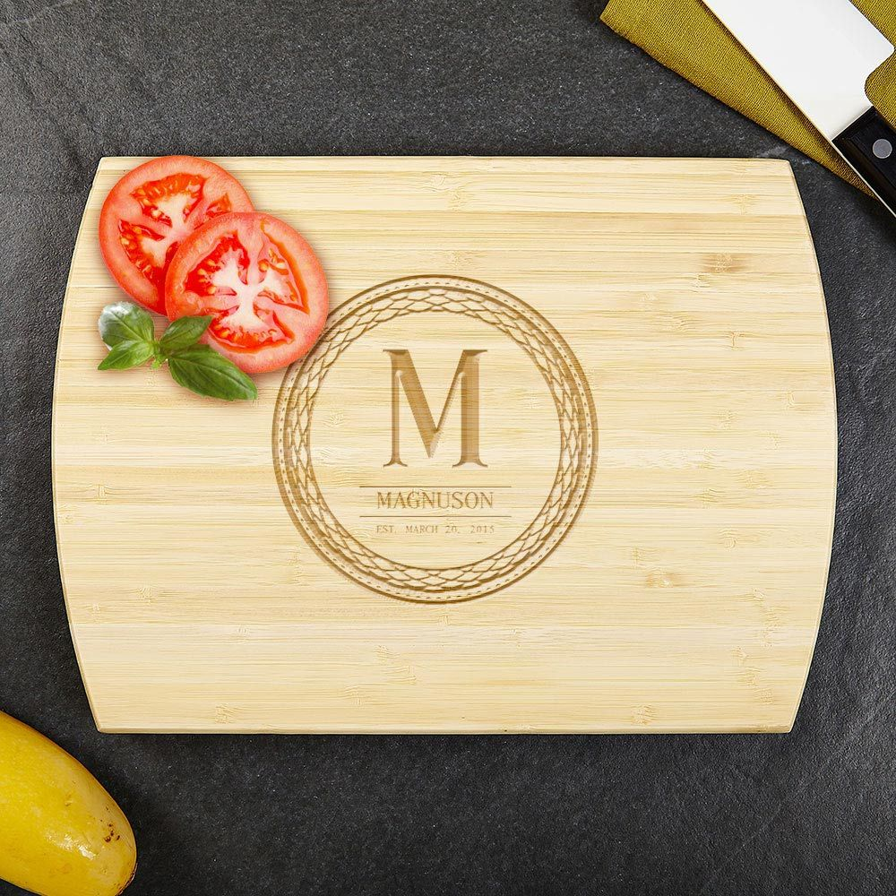 Celtic Circle Personalized Bamboo Cutting Board 8x11