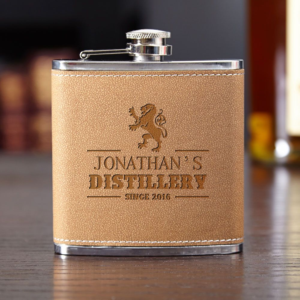 Royal Standard Personalized Leather Flask